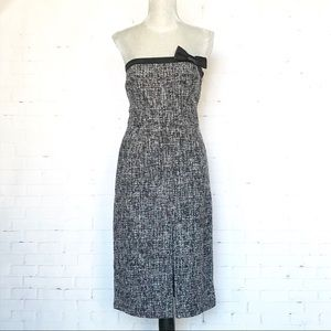 NWT Express Strapless Tweed Midi Dress SZ 8